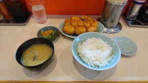 ファイト餃子の餃子定食10個
