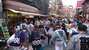 天祖神社祭り地蔵通り商店街神輿