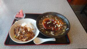 新栄巣鴨豚ロース麺&ミニ麻婆丼