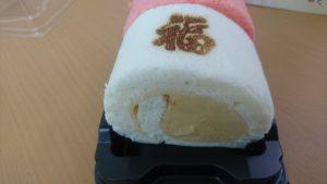 福寿庵の紅白シベリアロール白