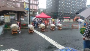 天祖神社 祭り地蔵通り商店街の女太鼓