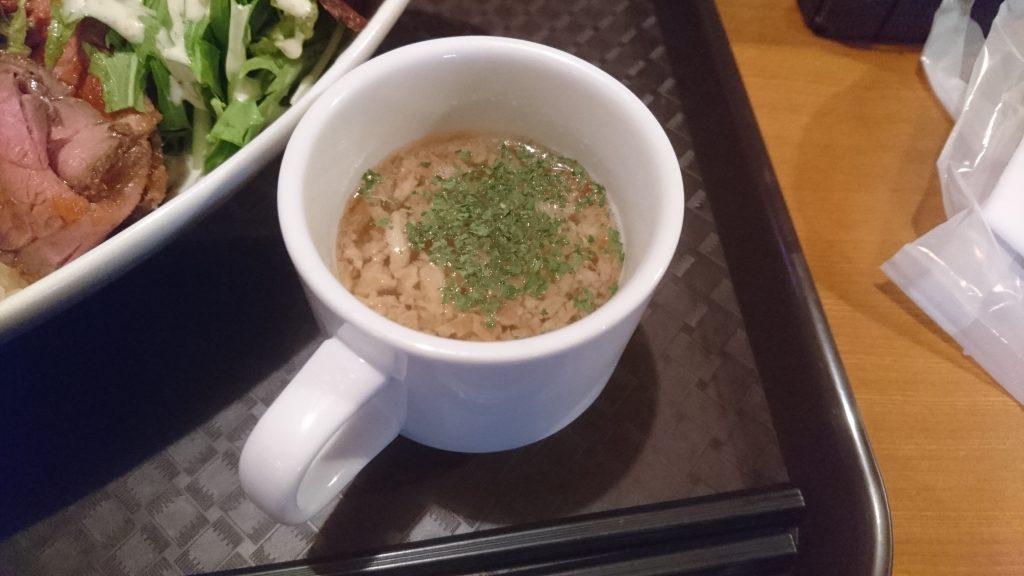 DEARSローストビーフ丼スープ