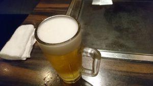 巣鴨鉄板焼 すぎてつ ビール